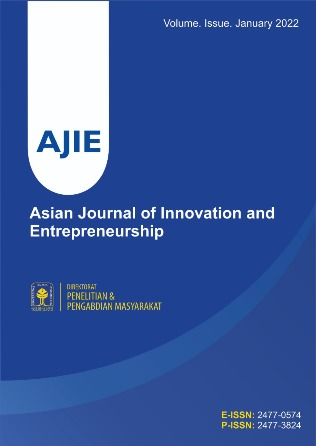 Cover AJIE-Asian Journal of Innovation and Entrepreneurship