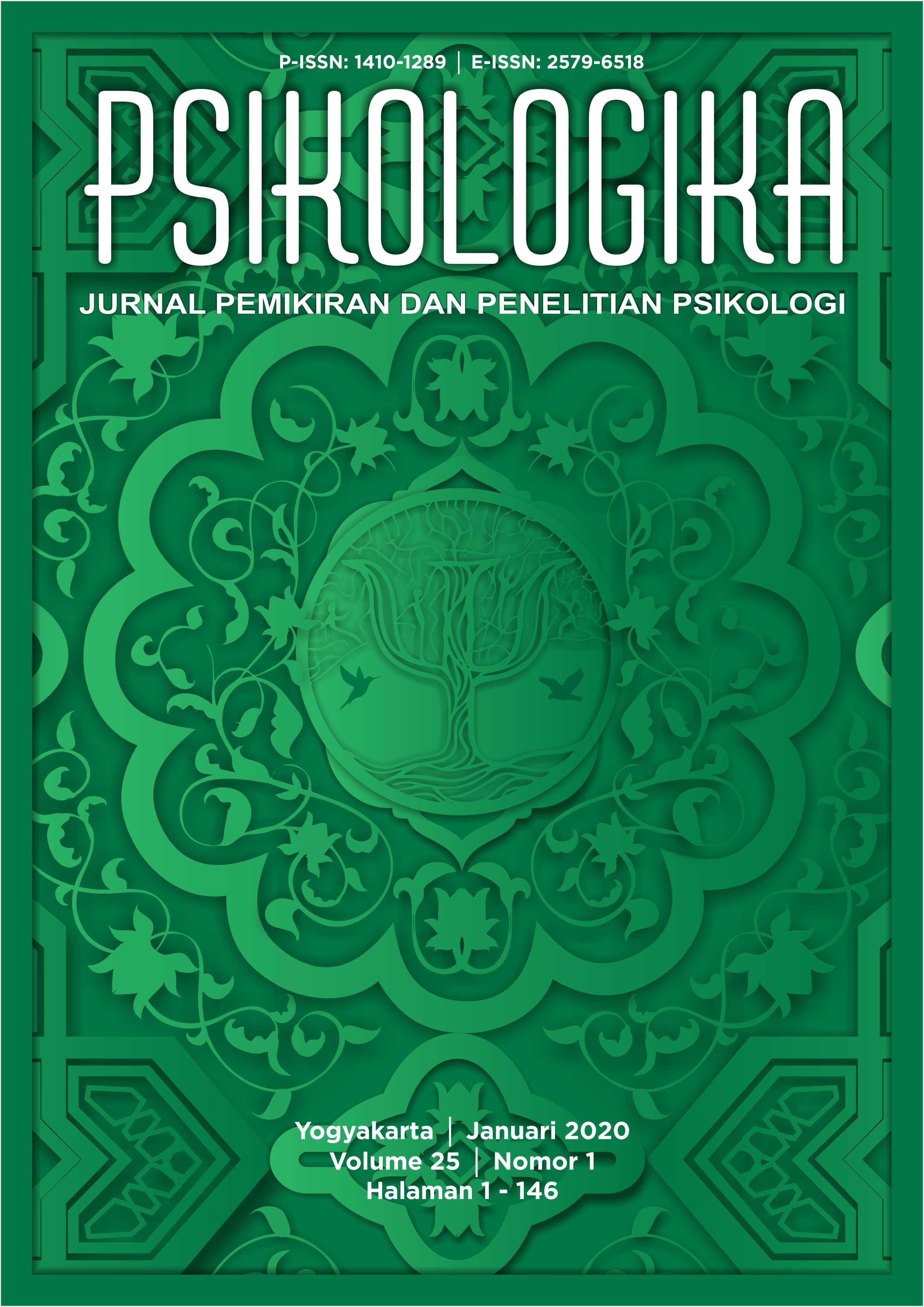 Cover Depan Psikologika Vol. 25 Iss. 1, Januari 2020